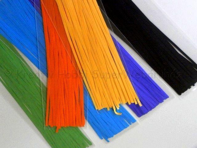 Quilling papírcsík készlet 30 cm x 3 mm egyszínű