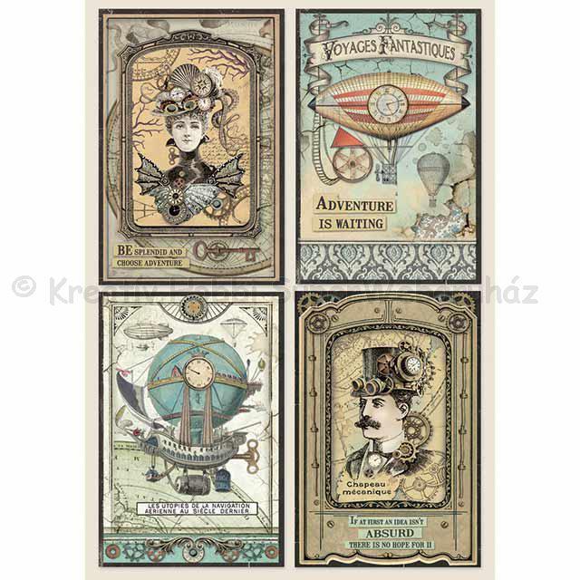 Rizspapír A/4 - fantasztikus utazás kártyák