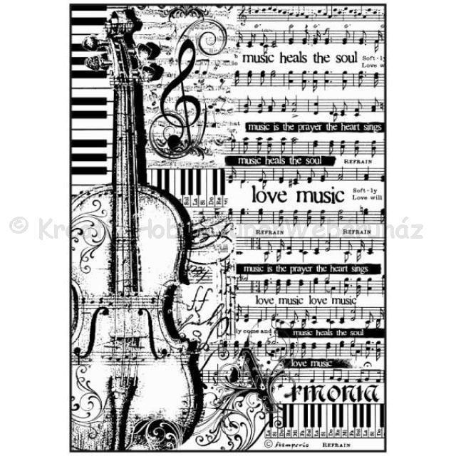 Rizspapír A/4 - hegedű és kotta