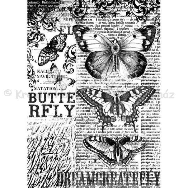 Rizspapír A/4 - pillangók