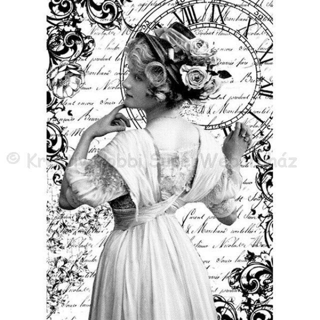 Rizspapír A/4 - romantikus hölgy