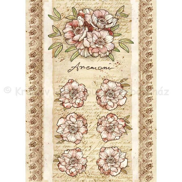 Rizspapír A/4 - rózsák és virágok