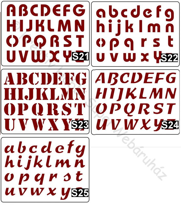 Sablon- ABC, betűk A/5