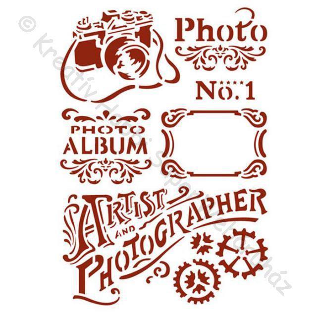 Stencil G, 21 x 29,7 cm - fotó - Photo