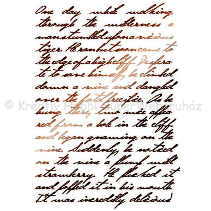 Stencil G, 21 x 29,7 cm - kalligráfia