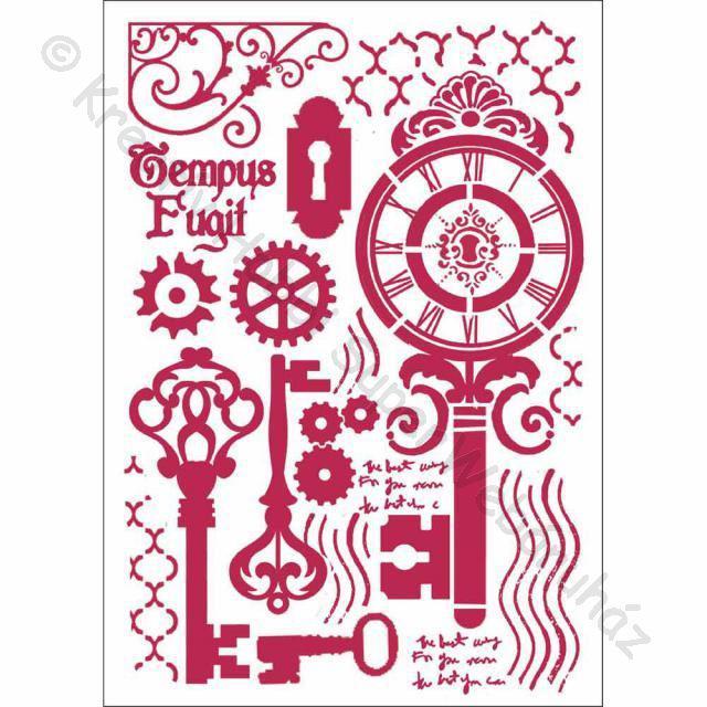 Stencil G, 21 x 29,7 cm - kulcsok és zárak