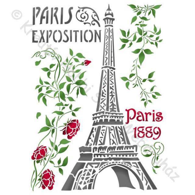 Stencil G, 21 x 29,7 cm - Párizsi Eiffel-torony