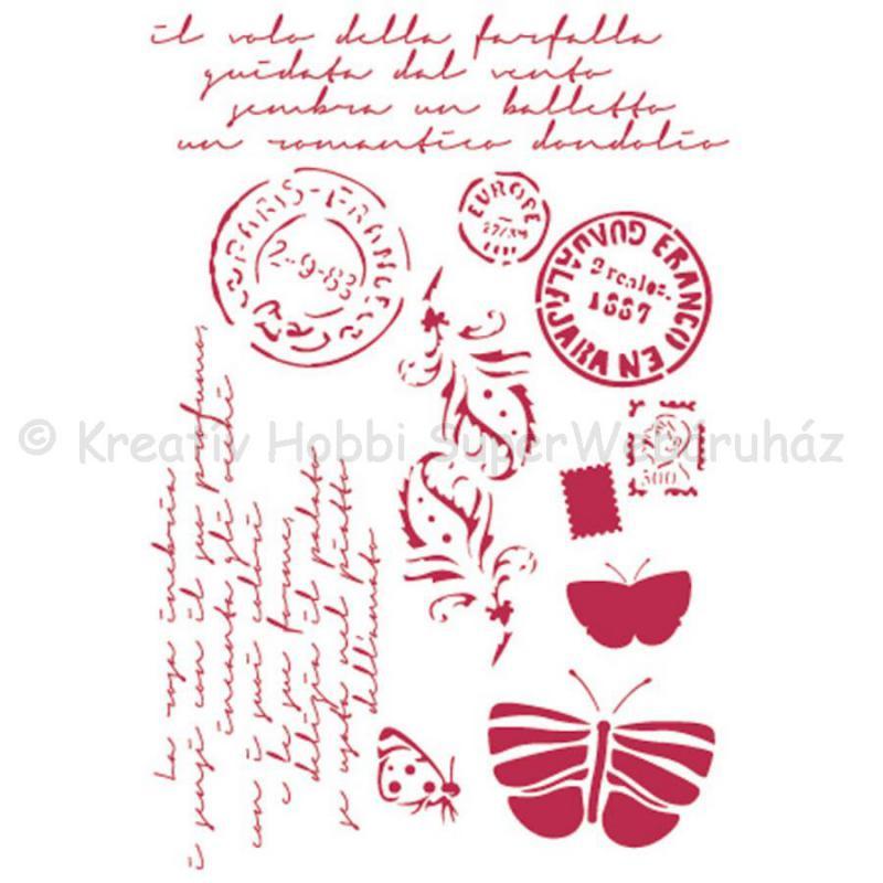 Stencil G, 21 x 29,7 cm - Post cards