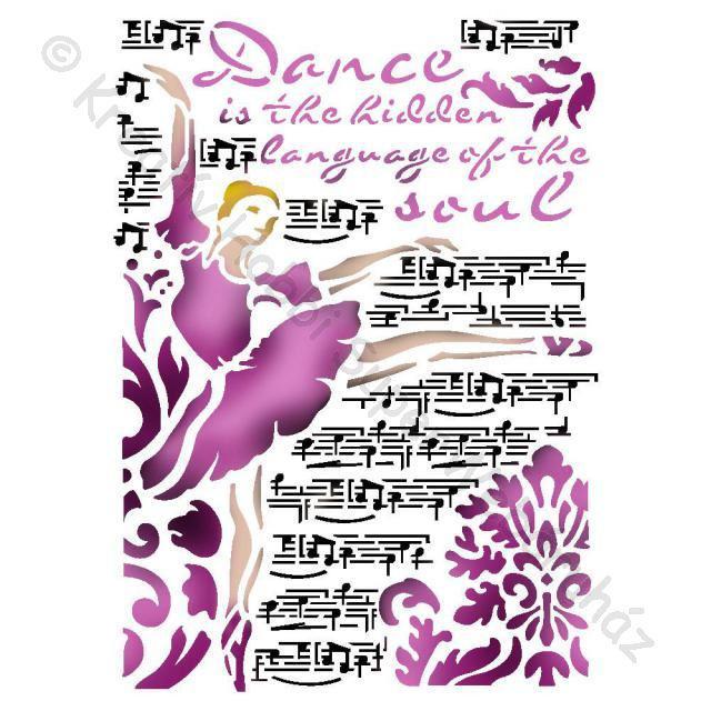 Stencil G, 21 x 29,7 cm - zene és tánc