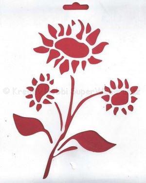 Stencil - napraforgó