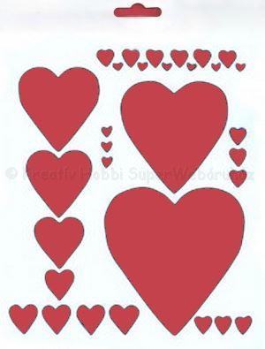 Stencil  - szívek