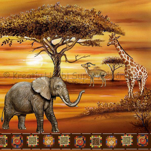 Szalvéta - afrikai állatok