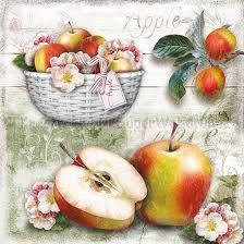 Szalvéta - almás kosár- Apple Basket