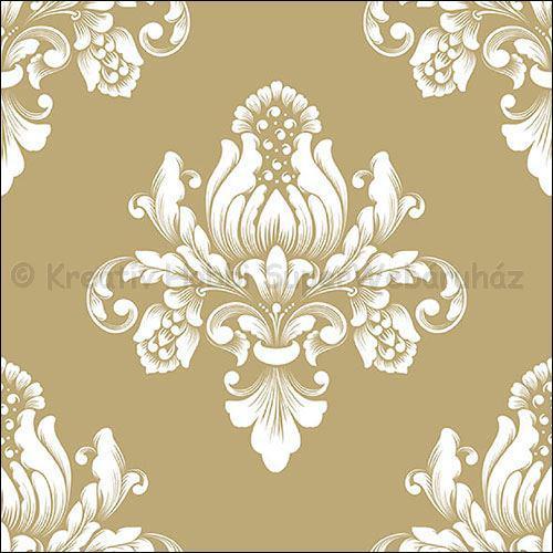 Szalvéta - barokk minta, arany - Barok Gold