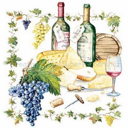 Szalvéta - bor és sajt - Wine and Cheese