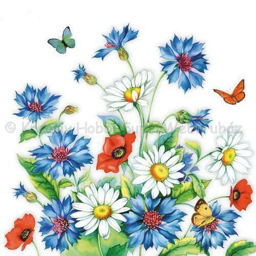 Szalvéta - búzavirág - Cornflower