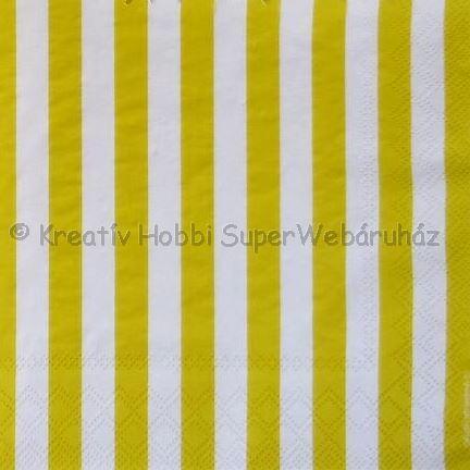 Szalvéta - csíkos sárga