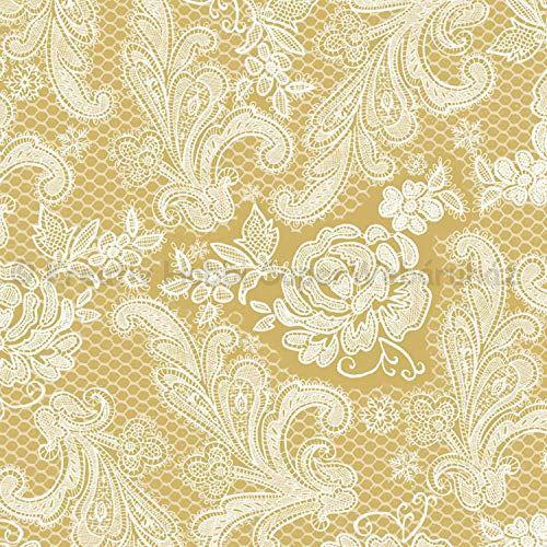 Szalvéta - csipke domborított, arany-fehér - Lace Royal gold white