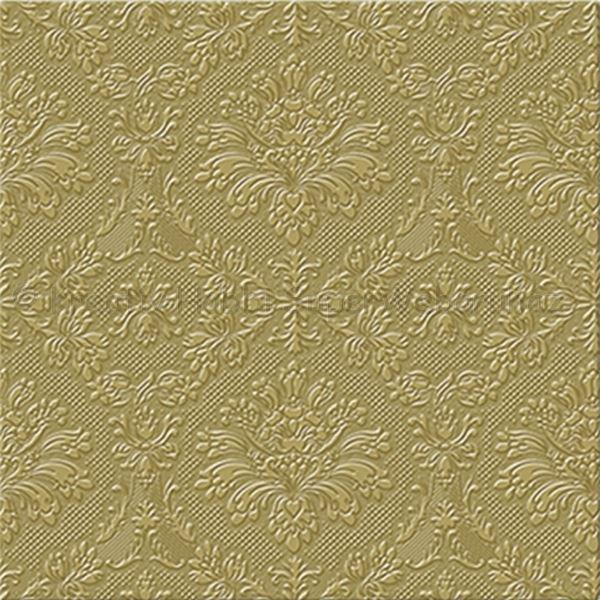 Szalvéta - domborított tapéta minta - arany