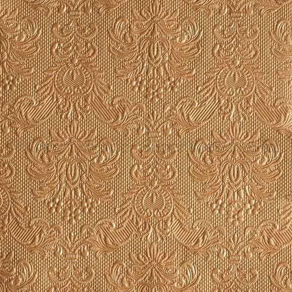 Szalvéta - domborított tapéta minta - bronz