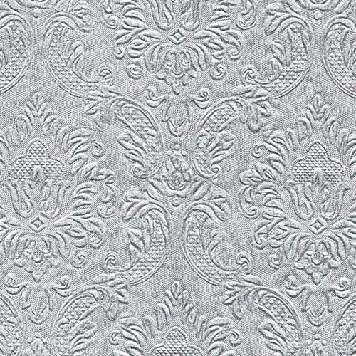 Szalvéta - domborított tapéta minta - ezüst