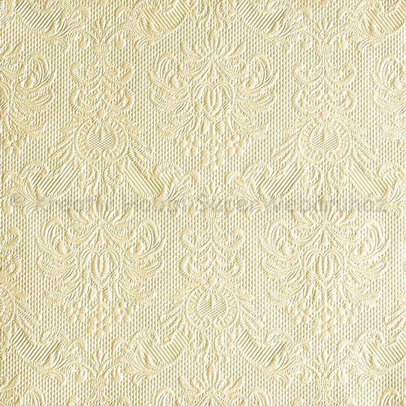 Szalvéta - domborított tapéta minta - gyöngyház krém