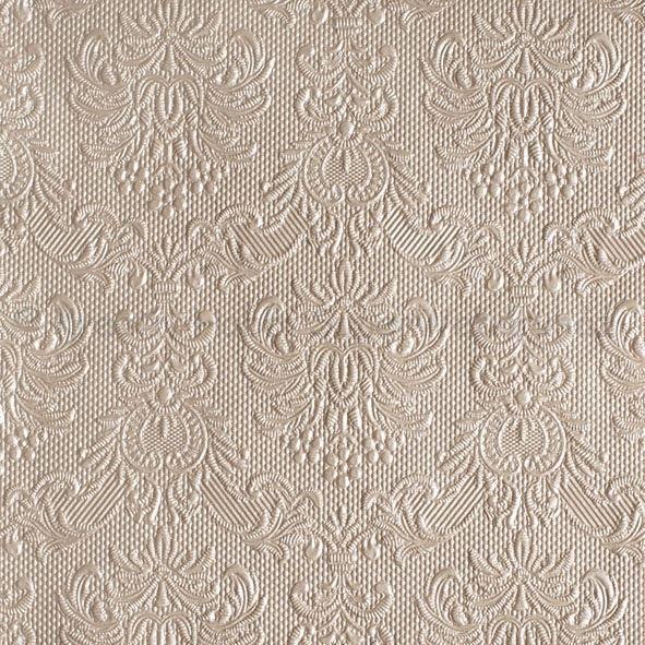 Szalvéta - domborított tapéta minta - taupe