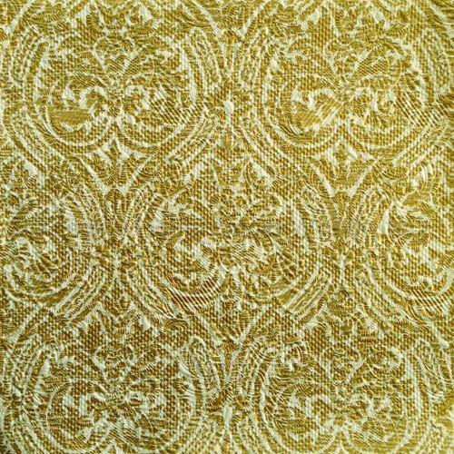 Szalvéta - domborított tapéta, stencilminta - arany
