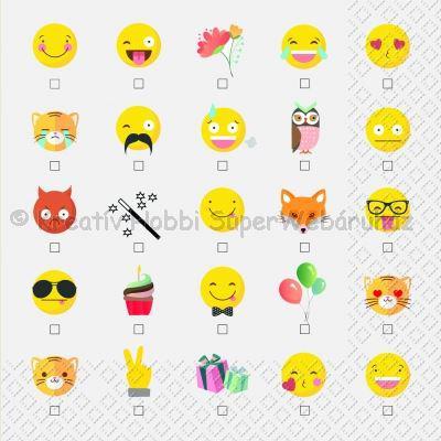 Szalvéta - emoji - smile party