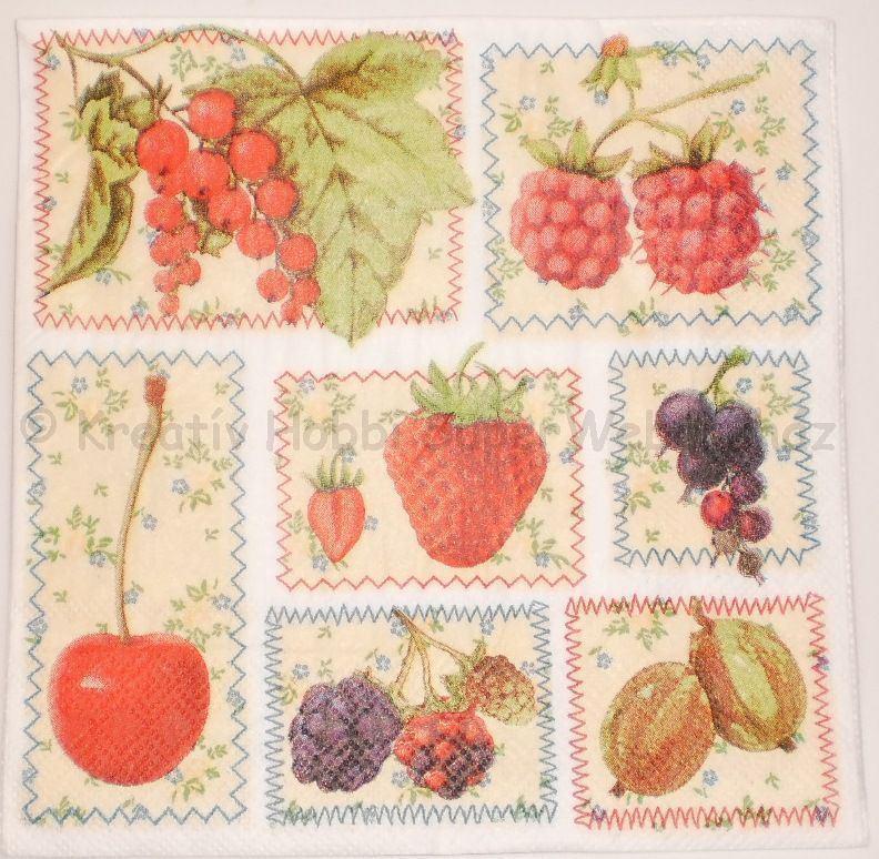 Szalvéta - gyümölcsök
