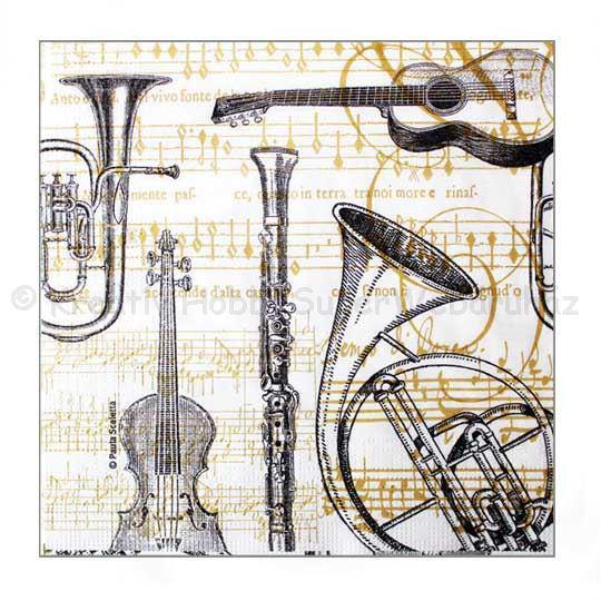 Szalvéta - hangszerek - Concerto