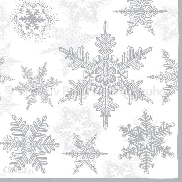 Szalvéta - hópehely, ezüst