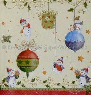 Szalvéta - karácsonyi díszek 1