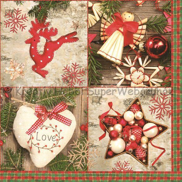 Szalvéta - karácsonyi minták