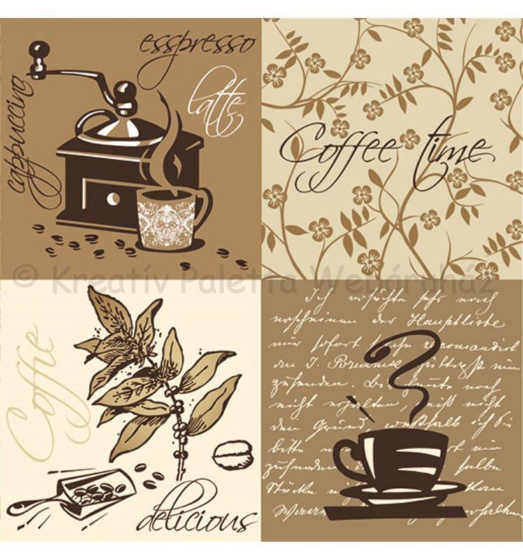 Szalvéta - kávé 3