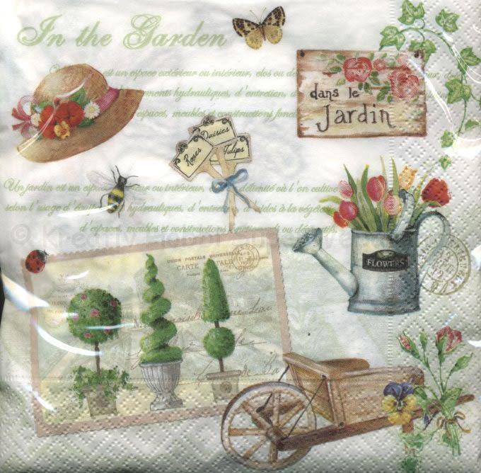 Szalvéta - kertészkedés