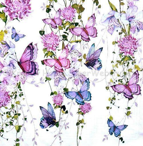 Szalvéta - lepkék, pillangók - Butterfly Splash