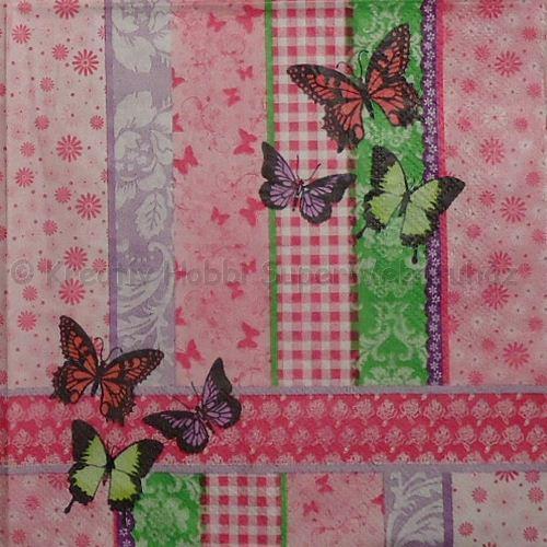 Szalvéta - lepkék, tarka pillangók