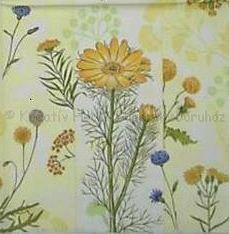 Szalvéta - mezei virágok