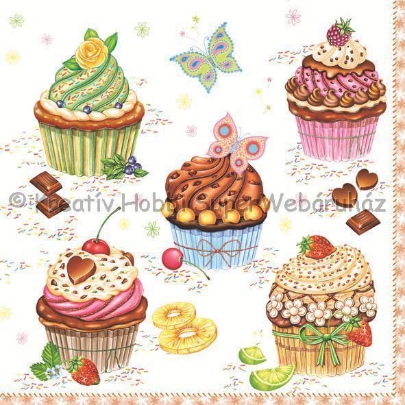 Szalvéta - muffinok