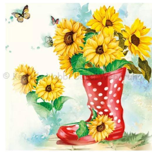 Szalvéta - napraforgó - Sunflowers