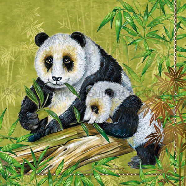 Szalvéta - pandák