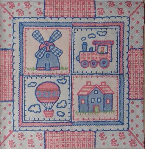 Szalvéta - patchwork mintás