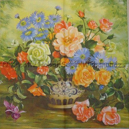 Szalvéta - rózsacsokor