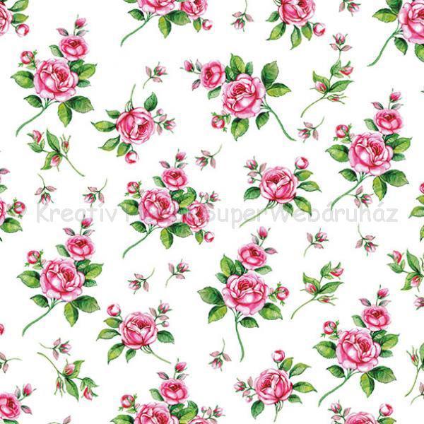 Szalvéta - rózsák - Evelyn white