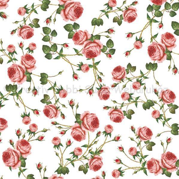 Szalvéta - rózsák - Small roses White
