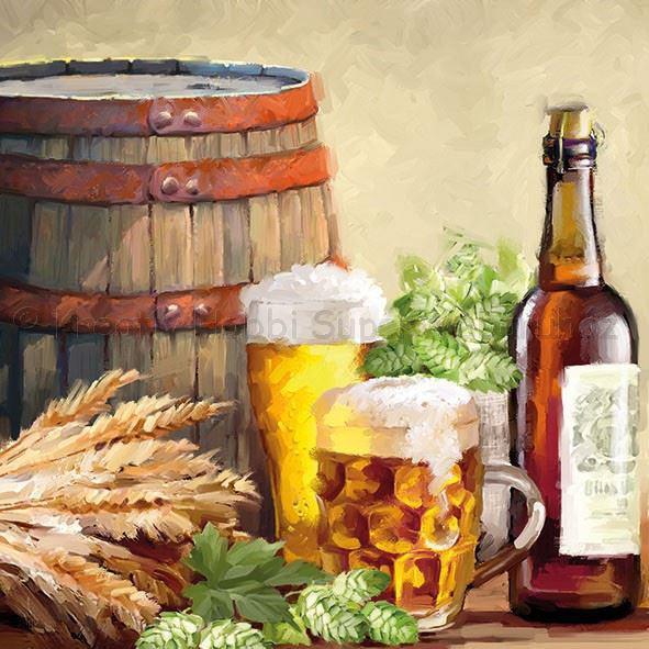 Szalvéta - sör és komló - Beer And Hops