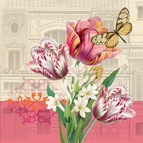 Szalvéta - tulipánok - Tulip Landscape