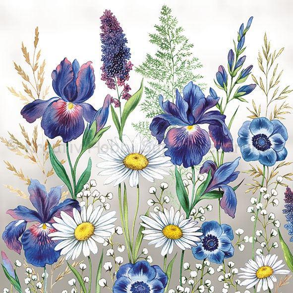 Szalvéta - virágok - Mixed Meadow Flowers