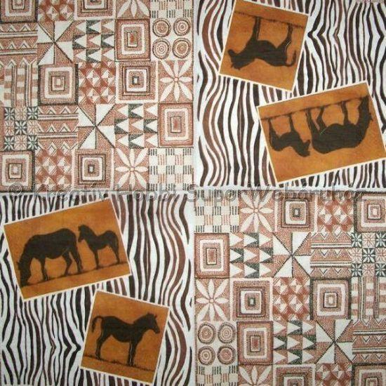Szalvéta - zebra
